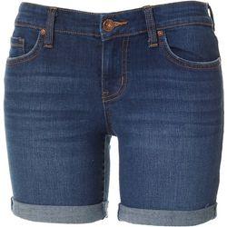 Vintage America Petite Midi Denim Shorts