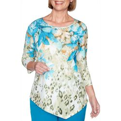 Alfred Dunner Petite Colorado Springs Floral Top