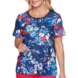 Petite Floral Americana Rope Neck Top