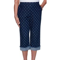 Alfred Dunner Petite Anchor Capris