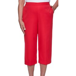 Alfred Dunner Petite Solid Capris