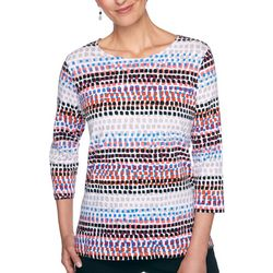Petite Biadere Dotted Round Neck Top
