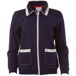 Alfred Dunner Petite America's Cup Sailboat Jacket