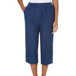 Alia Petite Denim Pull On Capris