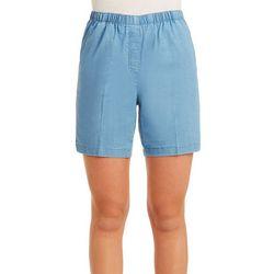 Petite Denim Pull-On Shorts