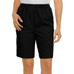 Alia Petite Microfiber Bermuda Shorts
