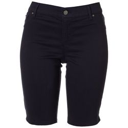Gloria Vanderbilt Petite Solid Bermuda Shorts