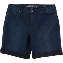 Gloria Vanderbilt Petite All-Around Slimming Denim Shorts