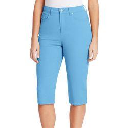 Gloria Vanderbilt Petite Amanda Skimmer Twill Shorts