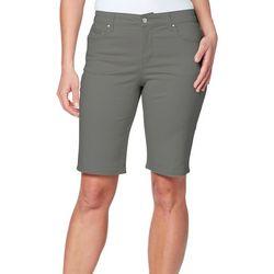 Gloria Vanderbilt Petite Sadie Solid Bermuda Shorts