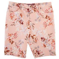 Petite Amanda Flowery Bermuda Shorts