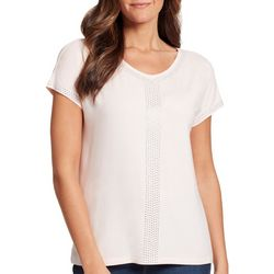 Petite Opal Solid Embellished Top