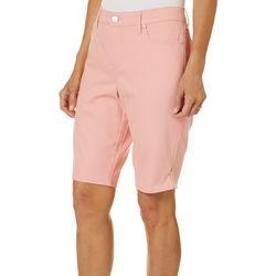 Petite Amanda Solid Bermuda Shorts