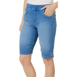 Gloria Vanderbilt Petite Avery Pull On Denim Bermuda Shorts