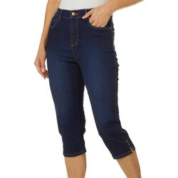 Gloria Vanderbilt Petite Amanda Side Split Hem Denim Capris