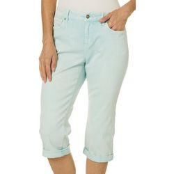 Gloria Vanderbilt Petite Rail Straight Leg Roll Cuff Capris