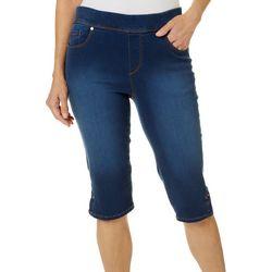 Gloria Vanderbilt Petite Avery Luxe Scupt  Skimmer Shorts