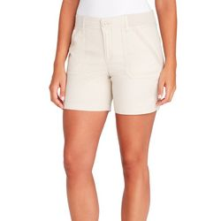 Petite Solid Knit Waist Utility Shorts