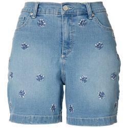 Gloria Vanderbilt Petite Amanda Embroidered Shorts