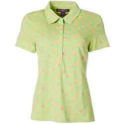 Gloria Vanderbilt Petite Annie Citrus Print Polo Shirt