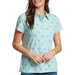 Gloria Vanderbilt Petite Annie Flip Flop Print Polo Shirt