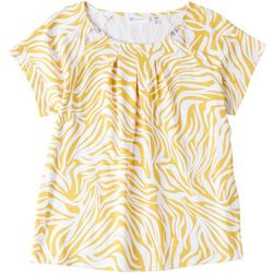 Rafaella Petite Printed Short Sleeve Top
