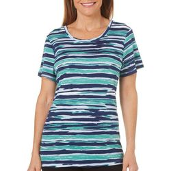 Bay Studio Petite Sydney Scratchy Stripe Print Top