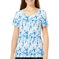 Bay Studio Petite Watercolor Floral Print Shirt