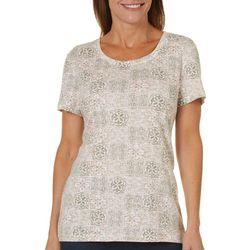 Bay Studio Petite Tile Print Shirt