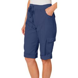 Petite Solid Pull On Skimmer Shorts