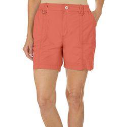Petite Solid Knit Waist Shorts
