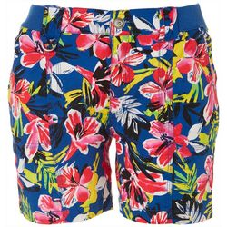 Fresh Petite Tropic Floral Cargo Shorts