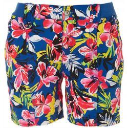 Petite Tropic Floral Cargo Shorts