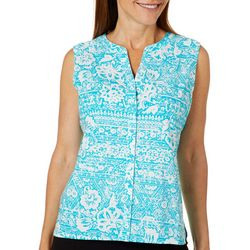 Erika Petite Juliette Mixed Floral Sleeveless Top