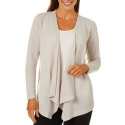 Erika Petite Solid Open Front Cardigan