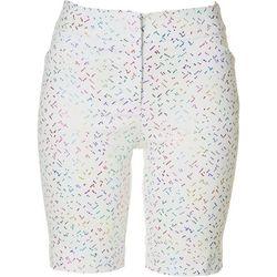 ATTYRE Petite Confetti Printed Bermuda Shorts