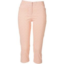 Petite Dotted Crop Pants