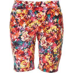 ATTYRE Petite Floral Print Bermuda Shorts