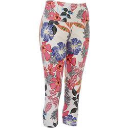 Khakis & Co Petite Multi Floral Leggings