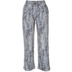 Reel Legends Petite Beach Day Exotic Animal Print Pants
