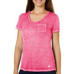 Reel Legends Petite Reel Fresh Solid Burnout T-Shirt