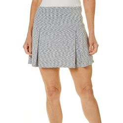 Reel Legends Petite Keep It Cool Space Dye Pleated Skort