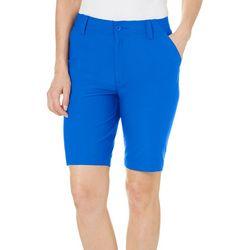 Reel Legends Petite Solid Outdoor Bermuda Shorts