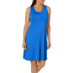 Reel Legends Petite Keep It Cool Cascade Palms Keyhole Dress