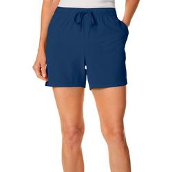 Petite Solid Pull On Shorts