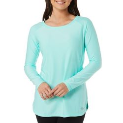 Reel Legends Petite Keep It Cool Solid Boat Neck Top