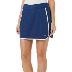 Reel Legends Petite Keep It Cool Palm Deboss Skort