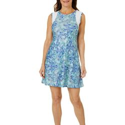 Reel Legends Petite Keep It Cool Winged Water Dress