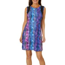 Reel Legends Petite Keep It Cool Smoke Lines Dress