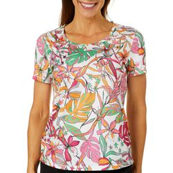 Reel Legends Petite Freeline Naive Jungle Short Sleeve Top
